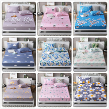 2018 New Autumn Winter 1pcs Fitted Sheet High Quality Mattress Cover with Rubber Elastic Band Adult Kids Child Bed Linen 150x200