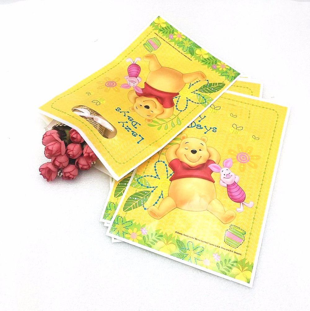 Disney 6pc/set Winnie The Pool Birthday Party Supplies Baby Shower Favor Decor Event Gift Bag Birthday Party For Girls Party