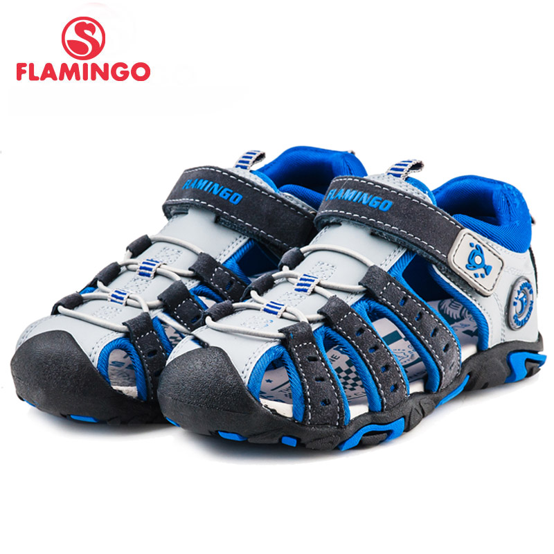 купить FLAMINGO famous brand 2018 New Arrival Spring & Summer Kids Fashion High Quality sandals for boys 61-DS107/61-DS108/61-DS109 онлайн