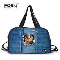 e5f73ec625 More Review Brand Woman Luggage Travel Bags Cute Kitty Cat Dog Animal  Printing Canvas Duffle Bag Large Capacity Ladies Travels Shoulder Bags
