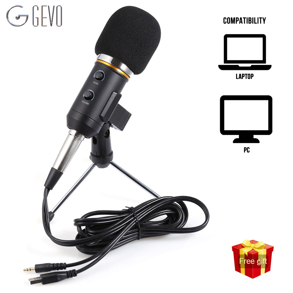 MK-F200FL Condenser Microphone Profesional Wired 3.5mm Jack With Tripod USB Microphone For Computer Laptop PC Recording Studio