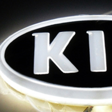 For KIA K5 soul forte sorento 4D Car Emblem light lamp led Rear Badge Sticker light  4D led logo light Emblems led for kia