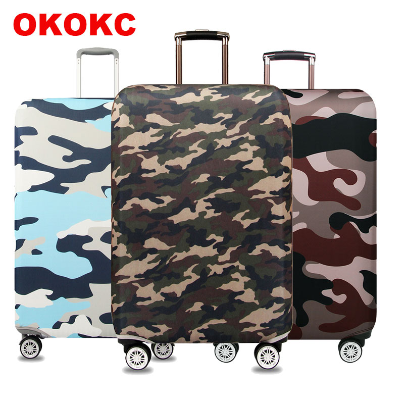 Camouflage  Luggage Cover Suitable For 18-32 Inch Suitcase Protector Trolley Case Elastic Dust Cover Travel Accessorie