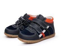 Automne En Cuir Véritable Bébé Garçon Chaussures Poing Marcheurs Petits Garçons Bottes En Cuir Enfants Sneakers Souple En Bas Âge Chaussures 12-36 mois