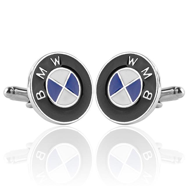 Men's Cuff Links With BMW Car Logo