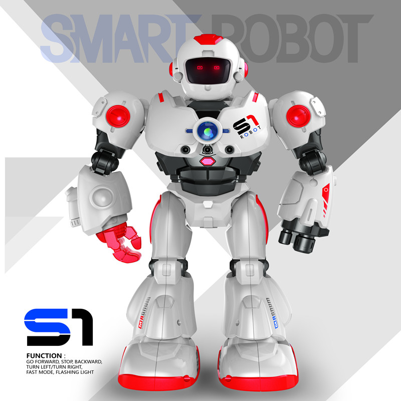 In Stock! XYCQ USB Charging Dancing Gesture Control RC Robot Toy Blue Pink for Children Kids Birthday Gift Present