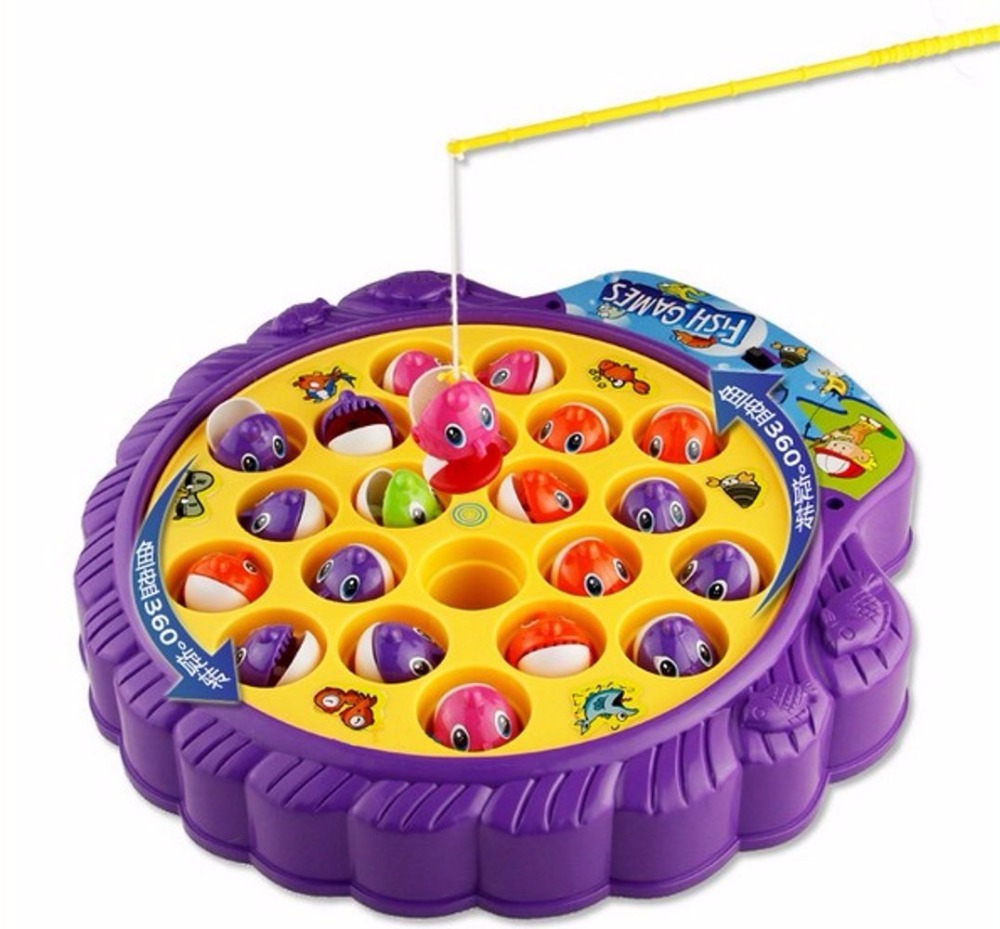 Premium Quality Fishing Game with Rotating Fish Pool and Music for Kids