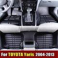 Автомобильные Коврики для TOYOTA YARiS 2004-2013 лет XPE + Кожа Anti-slip автомобильные ковры Передняя и Задняя Лайнер Авто Водонепроницаемый коврик 4 цвет