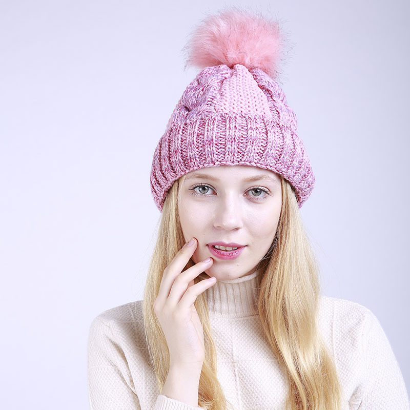 e249a128302 2018 HU GH Winter hat Beanie winter women hat for fur Pom Pom Hats casual  style new style balls -in Skullies   Beanies from Apparel Accessories on ...