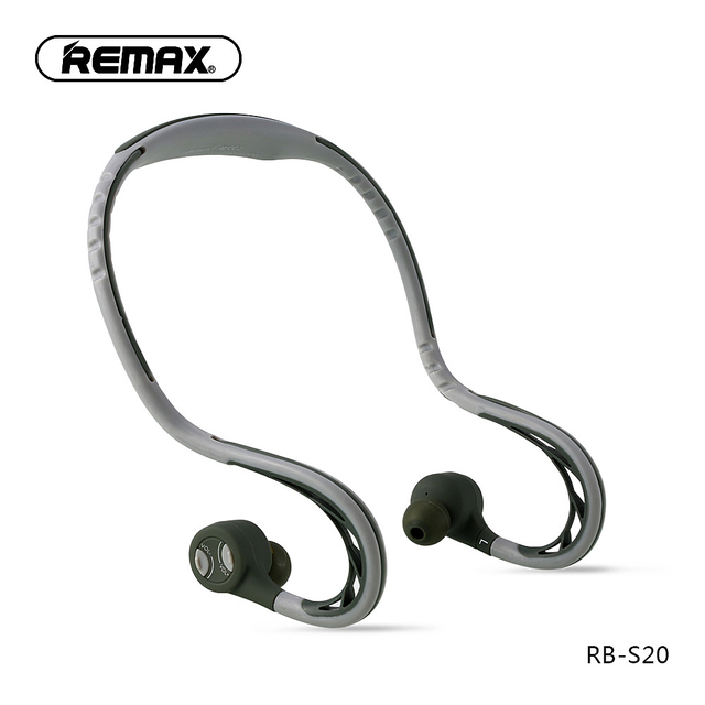 Remax S20 sports In ear Earphone bluetooth Headphone 4.2 Super Bass Stereo Noise Isolating Earbuds Headsets for Mobile Phone/pc
