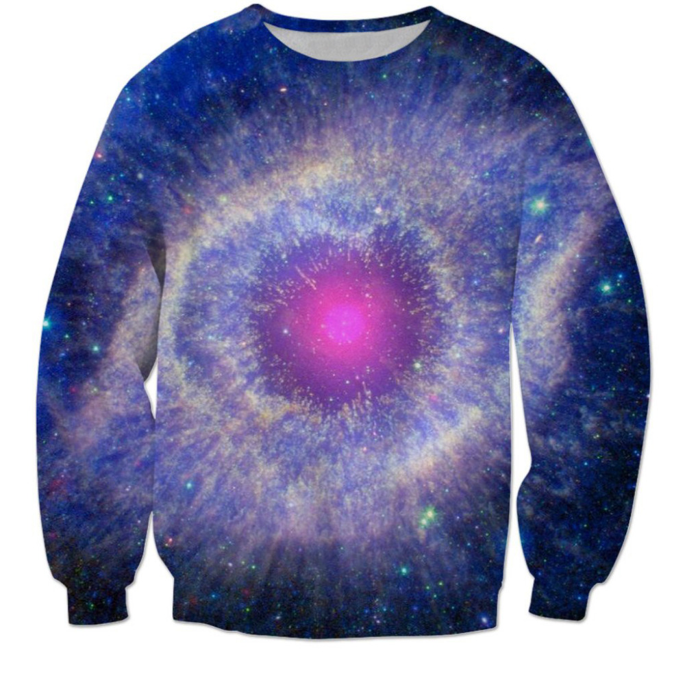 2018 NEW FASHION MEN WOMEN Colorful space Galaxy Sweat shirts Pullovers Autumn Tracksuit Streetwear Winter Loose Thin Hoody Top