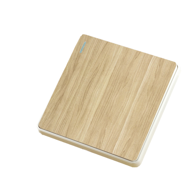 цена на DIY Pattern Design New style Wall Switch 86 - Type  Wooden Push Button Switch  One Control two Way110-250V 10A