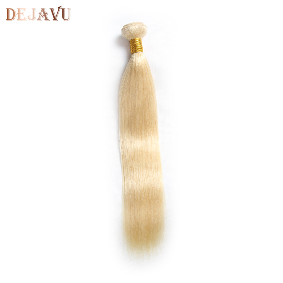 Dejavu 613 Blonde Hair Extensions Peruvian Hair Weave Bundles Straight Remy 100% Human Hair 10-30 Inch