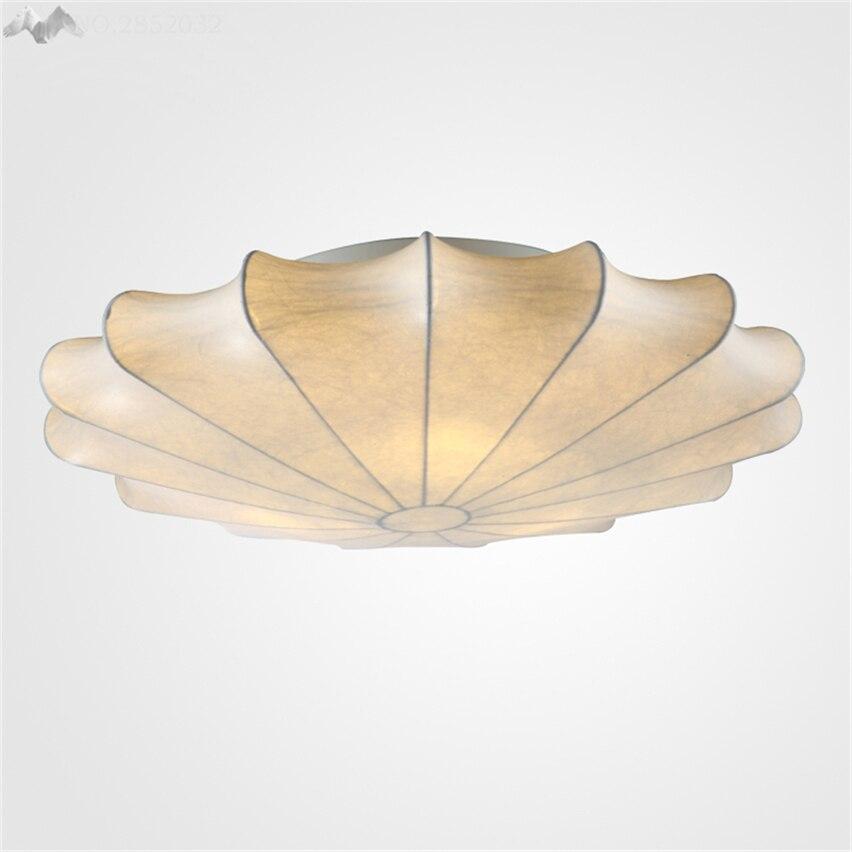 JW Silk Stoffschirm Moderne Wohnzimmer Deckenleuchte Bed LED Minimalistischen Runde Pastoralen Tuch Nordic Hause Stil Lampe