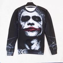 新しいジョーカーダークナイト3d発汗女性男性バットマンdcコミックスnoパーカープルオーバーインク付きスウェットシャツ