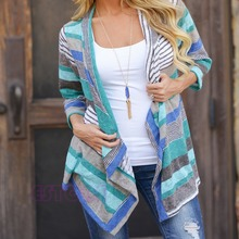 Women's Stripe Cardigan and Sweaters