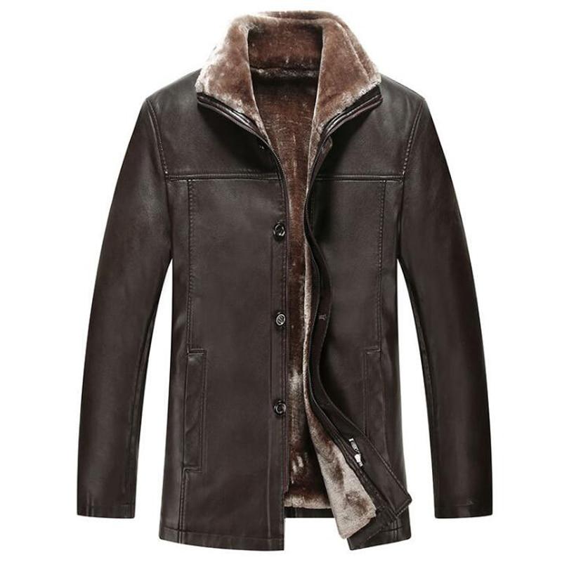 Branding Street Wear Stylish Fur Leather Jacket For Men XXXL Plus Size Mens Jackets Suede Lambswool Winter Fur Coat Mens C326