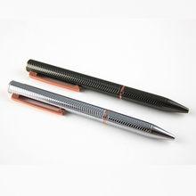 1 pçs preço ponto de metal prata esferográfica caneta presente conjunto/fornecimento de escritório por atacado