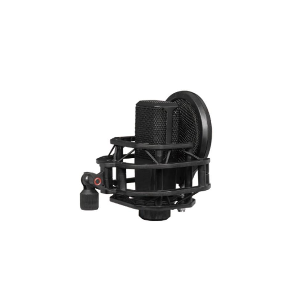 Adjustable Flexible Studio Mini Microphone Cover Iron Net Wind Filter Desktop Arm Stand Shockproof Studio Recording Device Black
