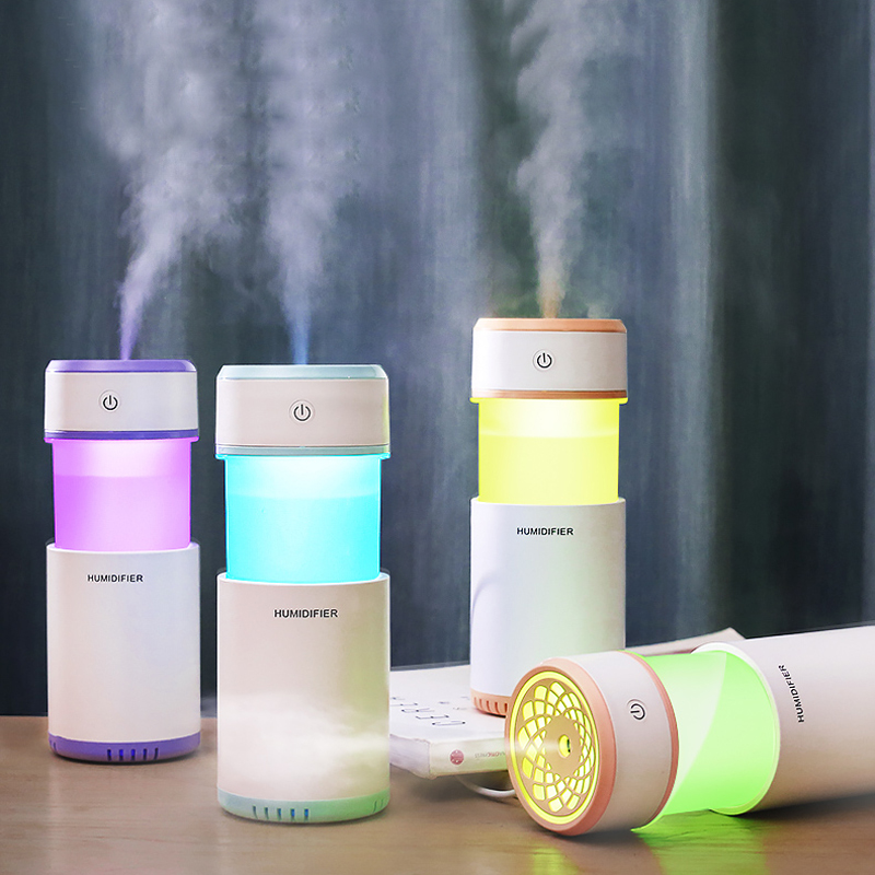 Car air freshener Pulling humidifier USB Mini Ultrasonic Essential Oil Diffuser LED Night Light Air Purifier Mist Maker Office