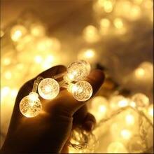 Рождественские огни 328фт 100led световая гирлянда хрустальный