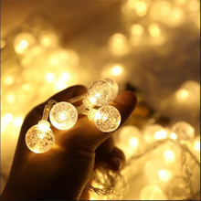 Christmas Lights 32.8ft 100LED Light String Crystal Ball Fairy for Outdoor House Gardens Party Decoration