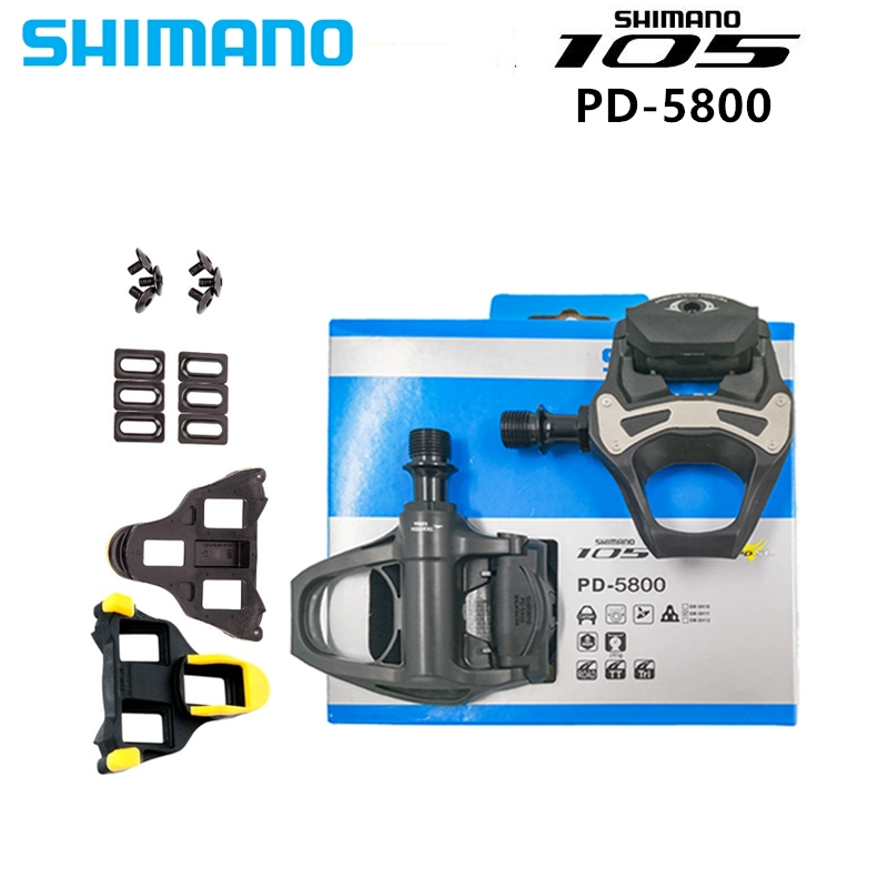 SHIMANO PD 5800 Pedals  PD R7000 SPD SL Carbon Pedals Floating Cleats 105 CARBON With Cleats Road bicycle 5800 pedals free ship bicycle pedal