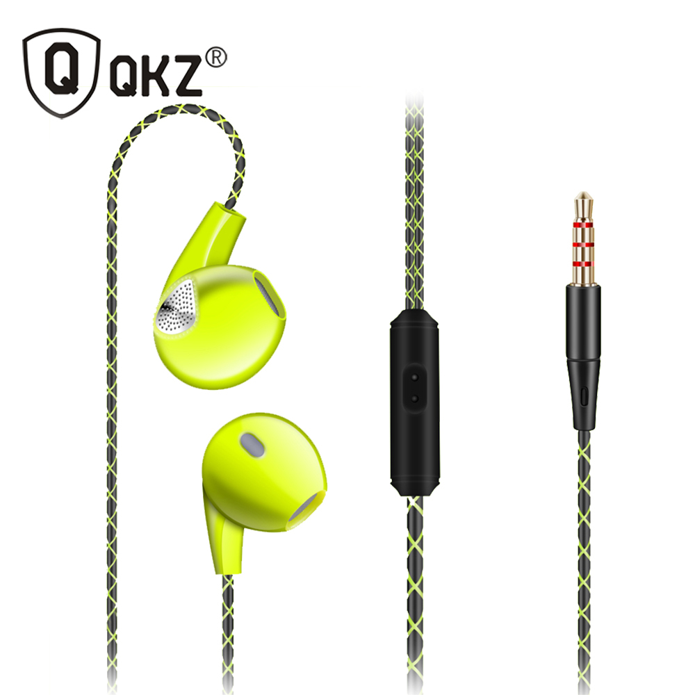 QKZ DM400 Earphone For iPhone 6 6S 5 5S Running Sport Headset With Microphone 3.5mm Jack Bass Headset For apple Xiaomi qkz c6 sport earphone running earphones waterproof mobile headset with microphone stereo mp3 earhook w1 for mp3 smart phones