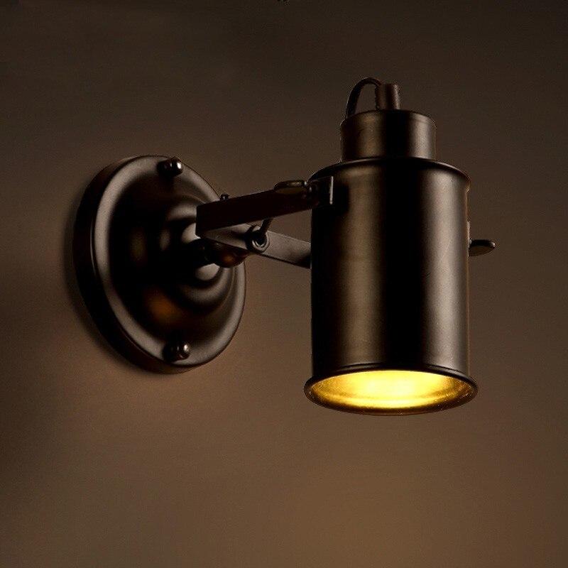 Işıklar ve Aydınlatma'ten LED İç Mekan Duvar Lambaları'de Vintage Loft Duvar Lambaları Demir Metal Duvar aydınlatma armatürleri Ülke Klasik Oturma Odası Kırsal Retro Dekoratif Duvar Aplikleri Lambaları qiseyuncai yc Store