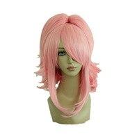 MCOSER 35 cm Court Bouclés Synthétique Rouge Cosplay Costume Un Queues de Cheval Perruque 100% Haute Température Fiber Cheveux WIG-029A