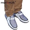 2016 moda hombre cómodas y zapatos de los hombres de la primavera calzado otoño planos de los hombres zapatos planos de los hombres zapatos ocasionales respirables más el tamaño 46