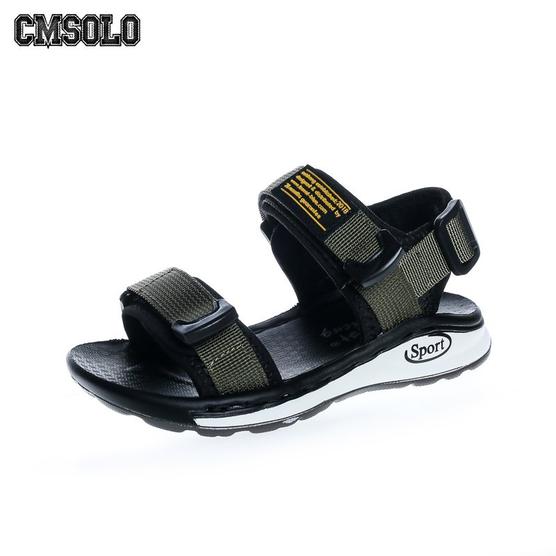 CMSOLO Children Sandals Crown Cow Leather Boys Sandals New Summer Kids Beach Fashion Top Quality Green Baby Infant Shoes Popular