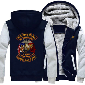 Image 4 - Personality United States Marine Corps Coat Casual Fashion Hooded Zipper Hoodies Autumn Winter Mens Jackets