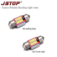 JSTOP 2pcs/set geniss paladin Leselicht liseuse LED reading Lights 12-24V 6000k car Trunk lamp c5w 31mm festoon led canbus bulbs(China)