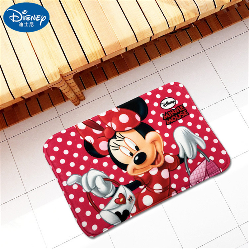 Cartoon Mickey Minnie Mouse Mat Cushion 38x58cm Door Mat Bathroom Mat Kitchen Doorway Children Room Balcony Mat Bedroom Carpet