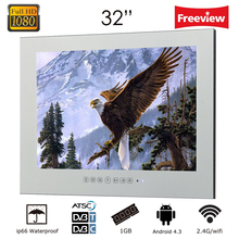 hot deal buy free shipping 32 inch  bathroom tv android smart tv mirror television wifi full-hd 1080p
