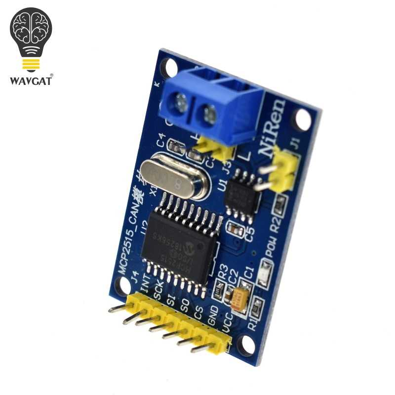 WAVGAT MCP2515 CAN Bus Module Board TJA1050 Receiver SPI