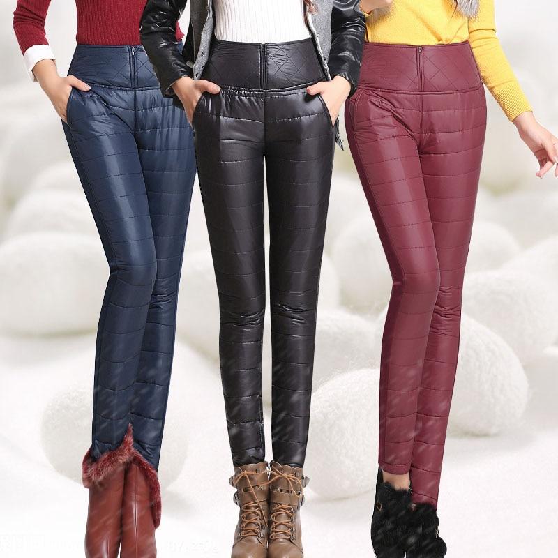 43ed20d20dbaf Pantalones de invierno de talla grande para mujer