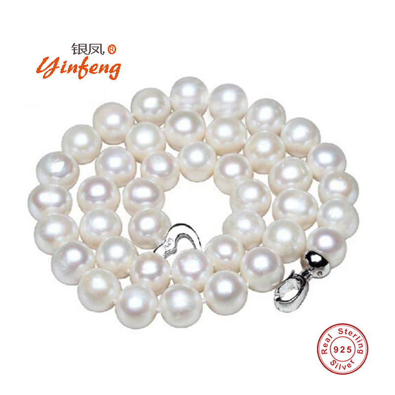 Yinfeng 10mm Big Natural Pearl Necklace Pearl beads White Necklace Special offer Super Mother s