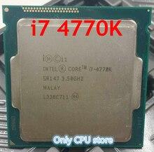 Original Prozessor Intel i7 4770K Quad Core 3,5 GHz LGA 1150 TDP 84W 8MB Cache Mit HD grafiken 4600 Desktop CPU