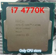מקורי מעבד אינטל i7 4770K Quad Core 3.5GHz LGA 1150 TDP 84W 8MB Cache עם HD גרפיקה 4600 שולחן העבודה מעבד