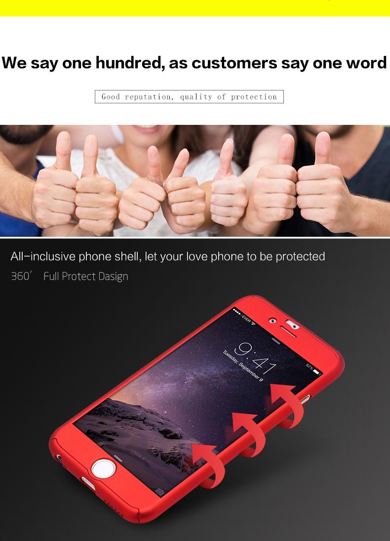 Floveme 6 s 7 plus armor screen protector 360 stopni case dla iphone 7 6 6 s dla iphone 6 6s 7 plus full chroń odporny na wstrząsy pokrywa 4