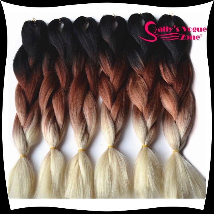 Ombre Synthetic Braiding Hair Afro Kinky Kanekalon Hair Extension