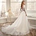 Long Sleeve Lace Wedding Dresses Tulle Backless Wedding Gowns Weding Bridal Bride Dresses Weddingdress vestidos de novia