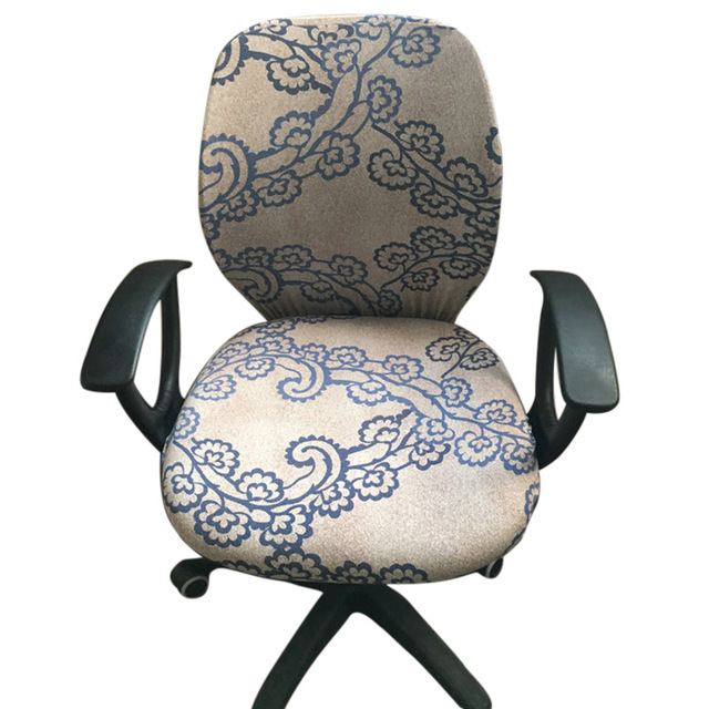 lift chair covers patio club with ottoman computer coverings office flower printed stretch rotating cover home textile