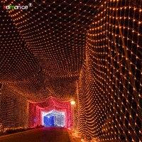 1920 светодиодов Чистый Свет 8 м x 10 м вечерние рождественское свадебное Фея открытый сад украшения дома 8 видов мигать способ