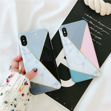 Cyato Fashion Marble Pattern Case For iPhone 6 6S 7 8 Plus X Soft Silicone Back Cover 8Plus capa fundas