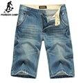 Пионерский Лагерь летние короткие джинсы мужчины усы эффект мужчин брюки джинсовые тонкие прямые повседневные брюки мужчины одежда марка 377513
