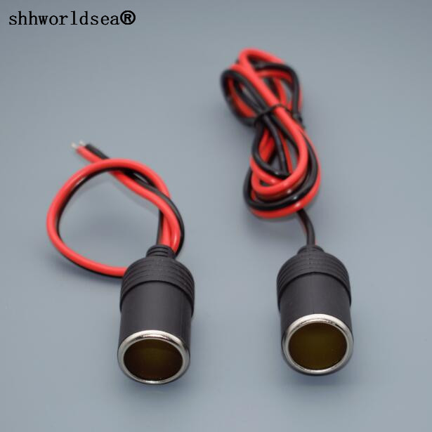 1pcs Car Cigarette Lighter Charger cable Female Socket Plug Connector Adapter with 25cm or 100cm(1M) wire hot selling