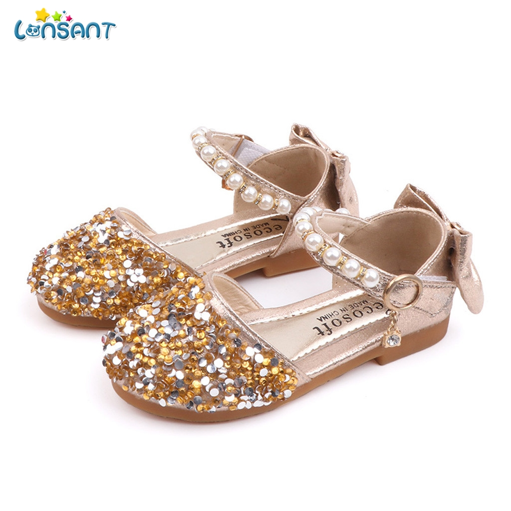 LONSANT Girls Sandals Child Kids Summer Baby Girls Pearls Bling Sequins Bowknot Princess Shoes Sandals For Little Girls ShoesLONSANT Girls Sandals Child Kids Summer Baby Girls Pearls Bling Sequins Bowknot Princess Shoes Sandals For Little Girls Shoes
